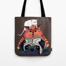 mouse cat pug chocolate Tote Bag