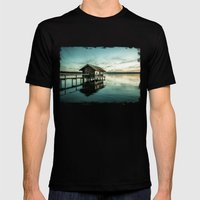 The House At The Lake Mens Fitted Tee Black SMALL