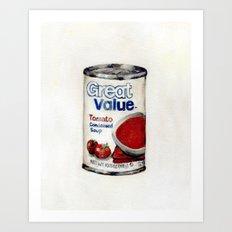 Great Value Tomato Soup Art Print