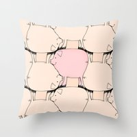 Pig Tessellation Throw Pillow