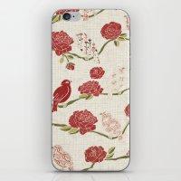 Nightingale And Rose iPhone & iPod Skin