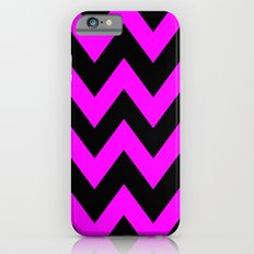 Black & Pink Chevron Lines  iPhone 6s Slim Case