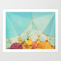Travelling Show Abstract… Art Print