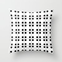 Domino pattern Throw Pillow