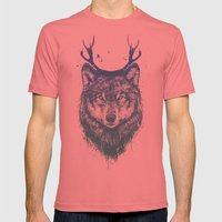 Deer wolf Mens Fitted Tee Pomegranate SMALL