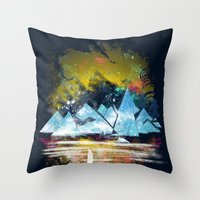 iceland islands Throw Pillow