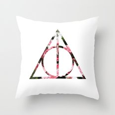 The Girly & Deathly Hallows Throw Pillow