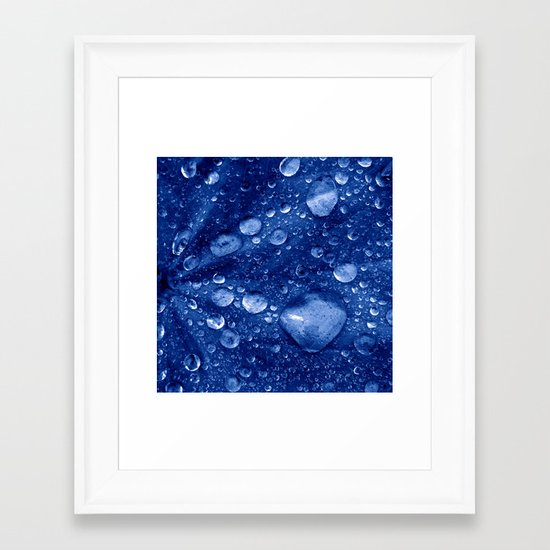 water drops Framed Art Print