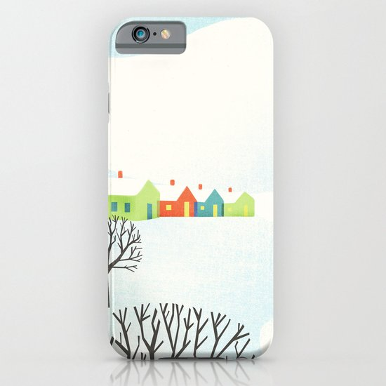 Snowy Little Town iPhone & iPod Case