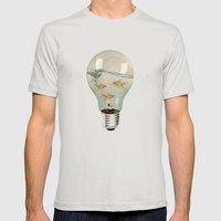 IDEAS AND GOLDFISH 03 Mens Fitted Tee Silver SMALL