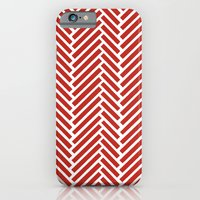 iPhone & iPod Case featuring Herringbone Candy by Project M