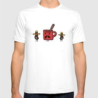 Cafe De Olla Mens Fitted Tee White SMALL