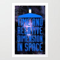 Doctor Who: The Tardis! … Art Print
