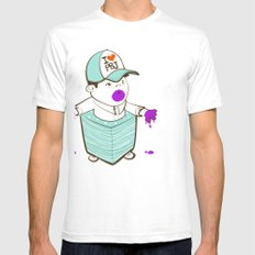 Napkinpants Mens Fitted Tee SMALL White