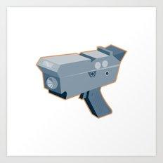 mobile speed camera radar gun retro Art Print