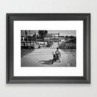 On Stop Framed Art Print