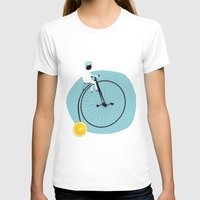 My bike Womens Fitted Tee White SMALL