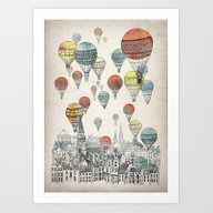 Art Print featuring Voyages Over Edinburgh by David Fleck