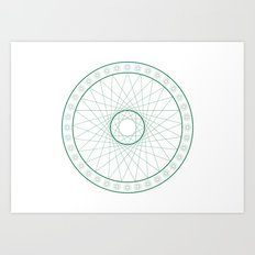 Anime Magic Circle 6 Art Print