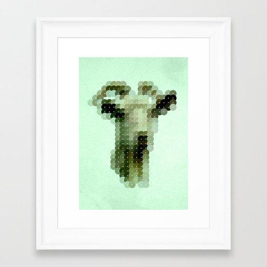 The Goat That Stares at Men Framed Art Print