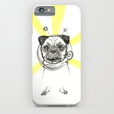 Pug in Space Silly Doodle iPhone 6 Slim Case