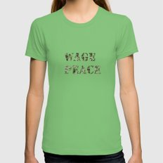 WAGE PEACE Womens Fitted Tee Grass SMALL