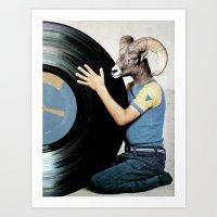 Vinyl life Art Print