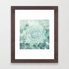 DEEP MINT MANDALA Framed Art Print