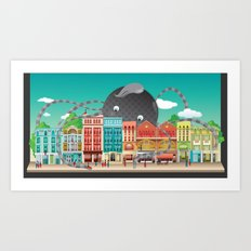 London Shoreditch Art Print