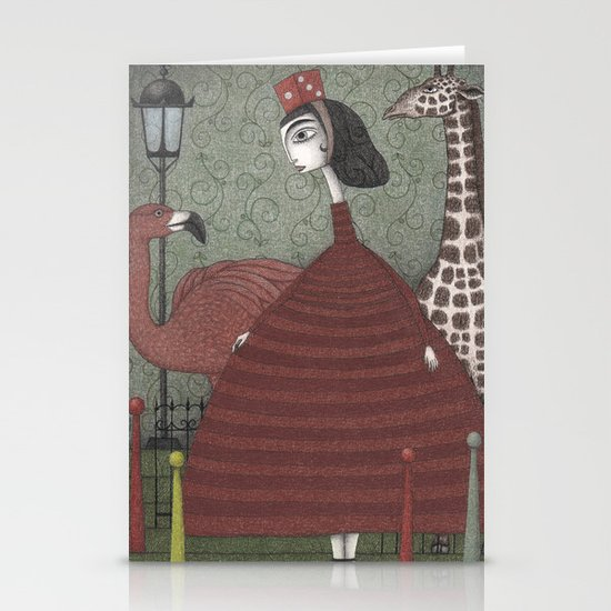 Sunday Excursion to the Zoo Stationery Card
