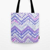 PURPLE ETHNIC CHEVRON Tote Bag