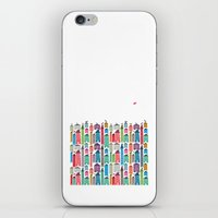 Houses and Birds iPhone & iPod Skin