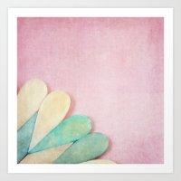 Bone Heart Art Print