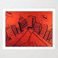 Crayliens Art Print