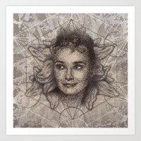 Audrey Hepburn Dot Work … Art Print