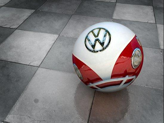 vw ball - red Art Print