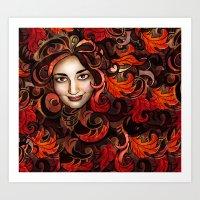 November Red Art Print