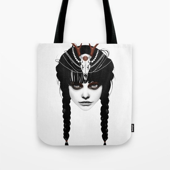 Wakeful Warrior - In Red Tote Bag