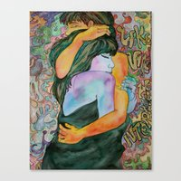 Couple Of Lovers Canvas Print
