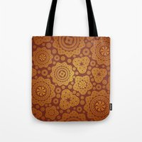 Warm Gold Paisley Pattern Tote Bag