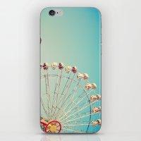 I Don't Want Love, Ferris Wheel on Blue Sky iPhone & iPod Skin