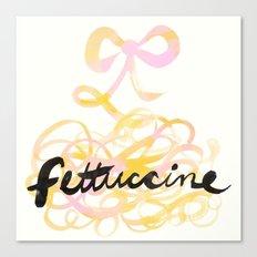 Fettuccine | 100 Days of Cookbook Spots Canvas Print