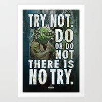 Yoda Jedi Master Giclee Art Print/ Geekery Poster / Fan Art Art Print