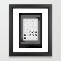W. Framed Art Print