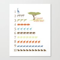 Counting Safari Animals … Canvas Print