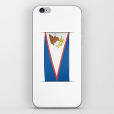 Flag of American Samoa. The slit in the paper with shadows.  iPhone & iPod Skin