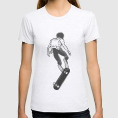 Skater Womens Fitted Tee Ash Grey SMALL