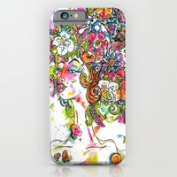 """iPhone & iPod Case featuring """"She Wore Flowers in Her Hair"""" by Holly Lynn Clark"""