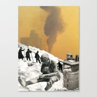 An Industrial Vice Canvas Print