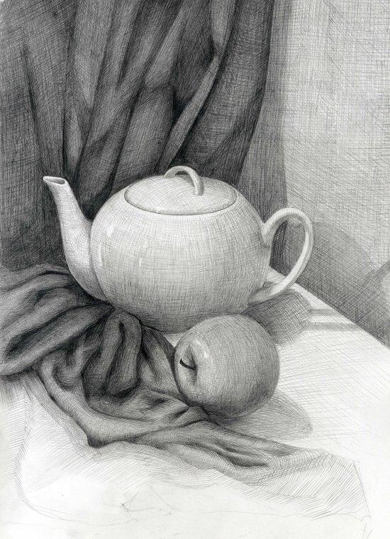 Still Life with a Tea Pot Canvas Print